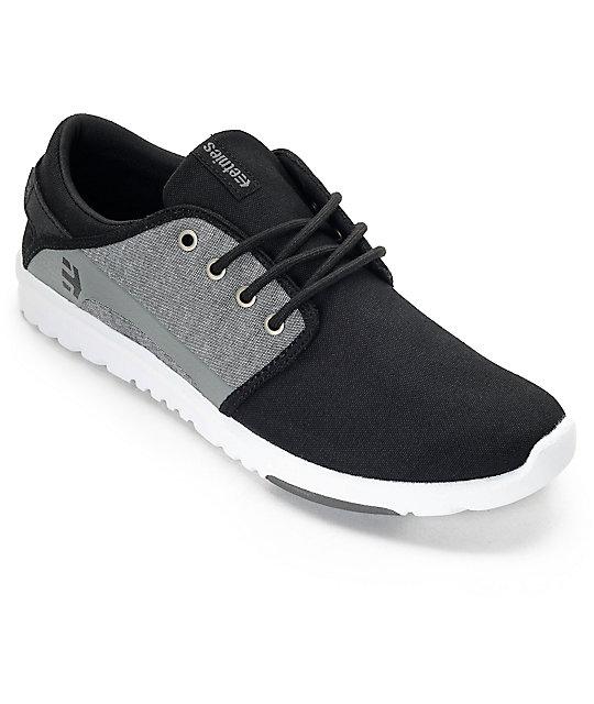 Etnies Scout Black & Charcoal Heather Shoes