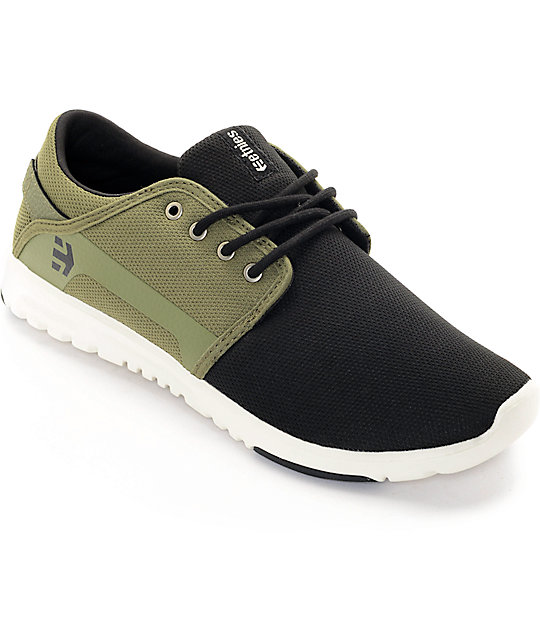 Etnies Scout Black & Olive Shoes