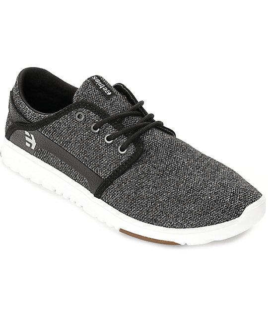 Etnies Scout Black & White Heather Knit Shoes