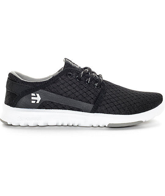 Etnies Scout Black & White Shoes