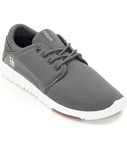 Etnies Scout Grey, White & Gum Skate Shoes