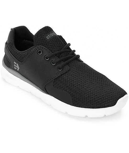 Etnies Scout XT Black, White & Grey Shoes