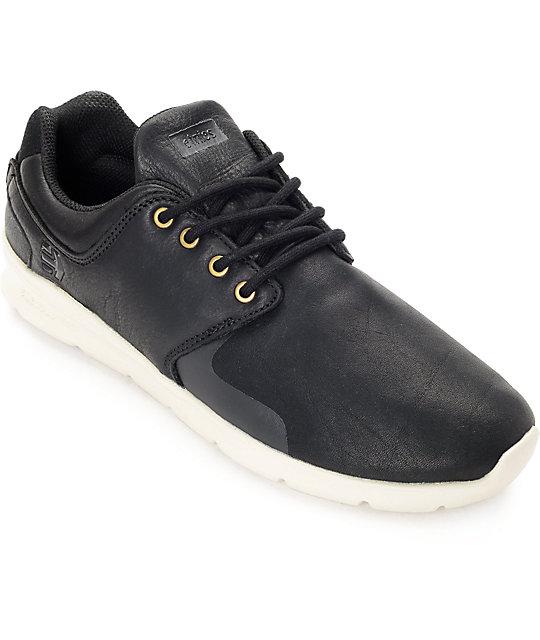 Etnies Scout XT Black & Off White Full Grain Leather Shoes