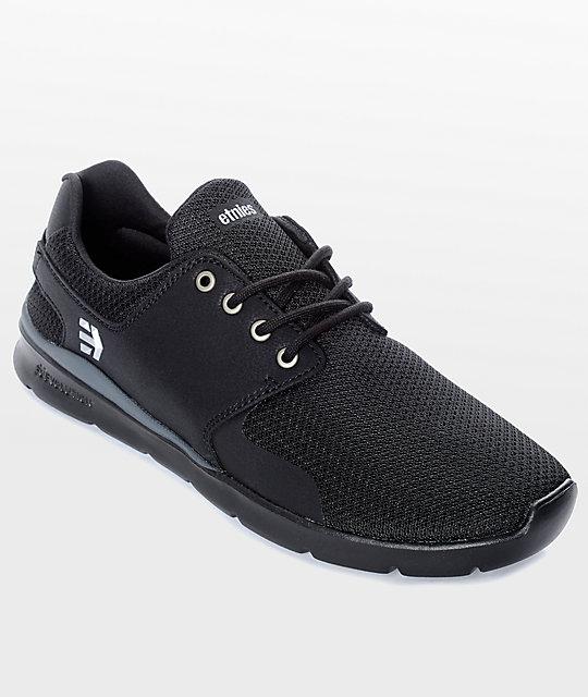 Etnies Scout XT Black & Silver Shoes