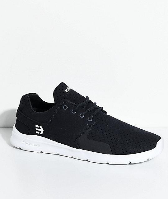 Etnies Scout XT Navy & White Microfiber Suede Shoes