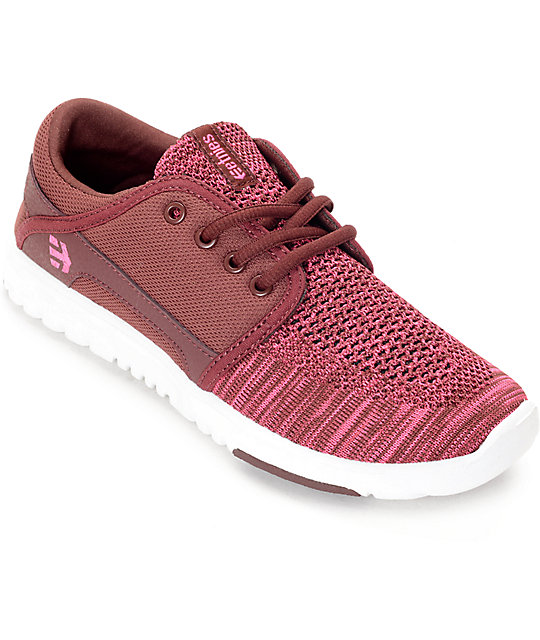 Etnies Scout Yarn Bomb Burgundy & Pink Women's Shoes