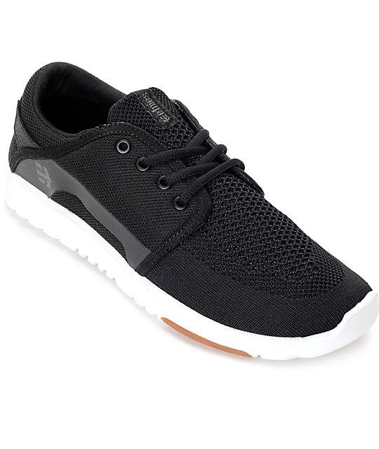 Etnies Scout Yarnbomb Black, White & Gum Shoes