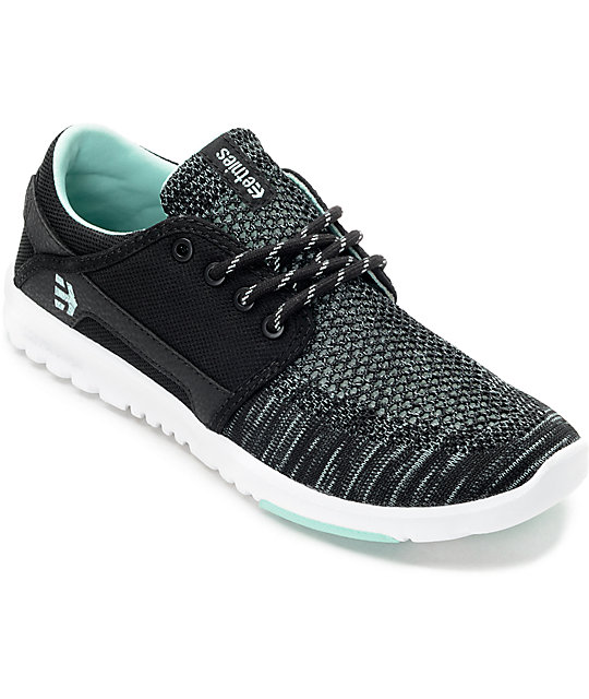 Etnies Scout Yarnbomb Black & Mint Womens Shoes