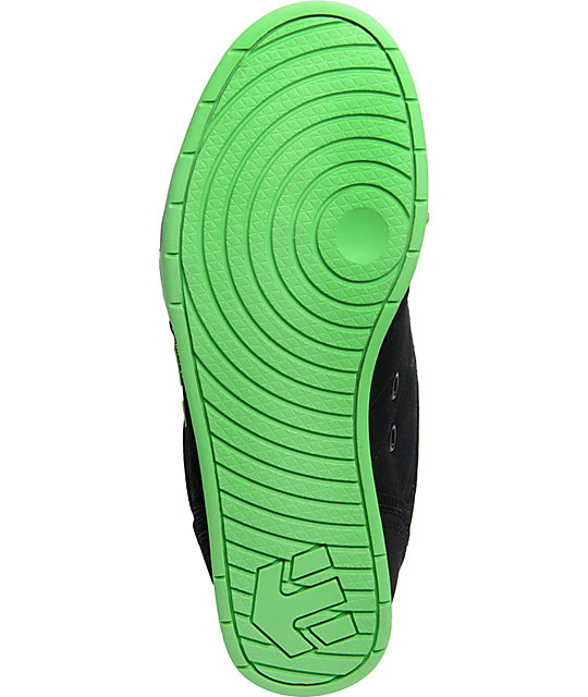 Etnies Twitch 3 Black & Lime Skate Shoes