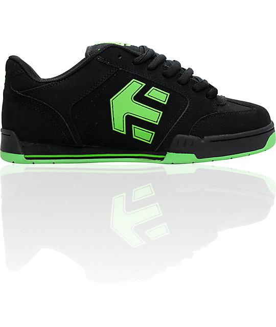 etnies twitch 3 black lime skate shoes