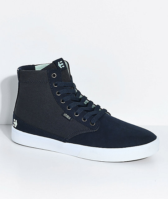 Etnies Vegan Jameson HT Navy & White Skate Shoes