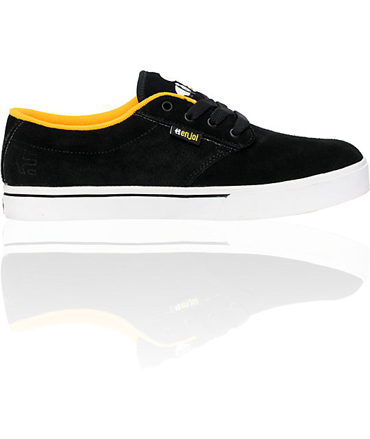 Etnies x Enjoi Jameson Black & Yellow Jose Rojo Shoes