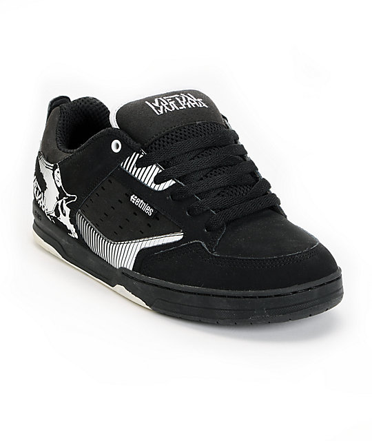 Etnies x Metal Mulisha Cartel Black & White Shoes