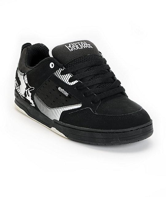 Etnies x Metal Mulisha Cartel Black & White Shoes