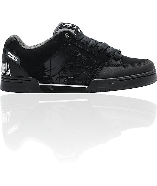 Etnies x Metal Mulisha Charter Black & Grey Skate Shoes