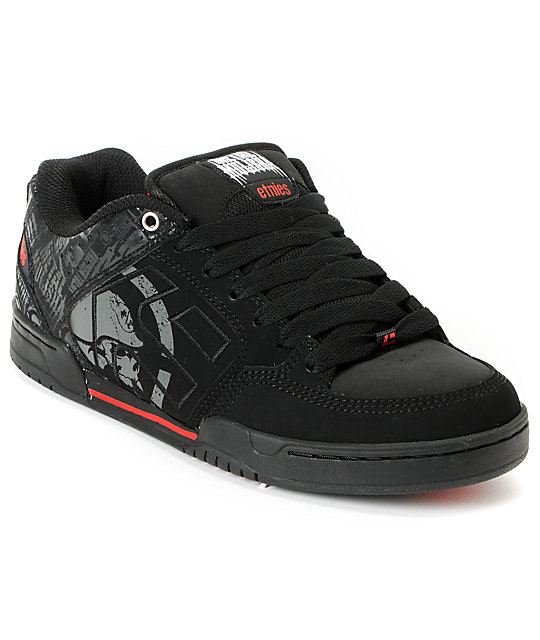 Etnies x Metal Mulisha Charter Black & Red Shoes