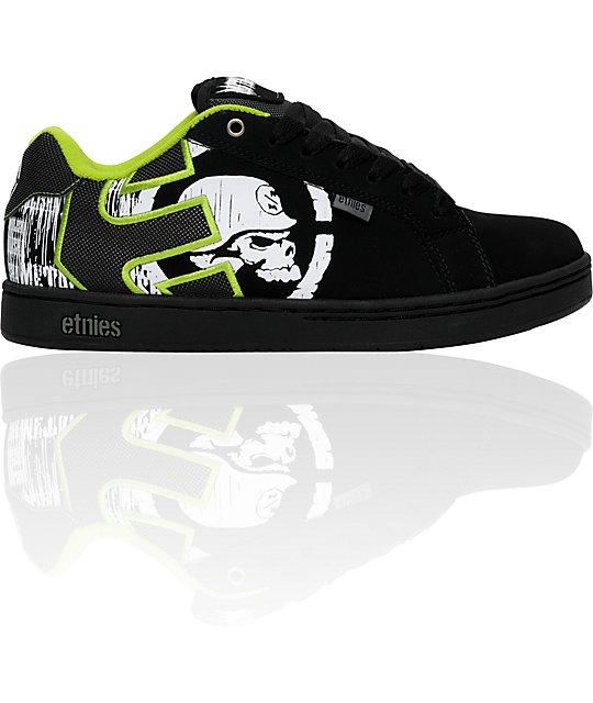 Etnies x Metal Mulisha Fader Black & Green Shoes