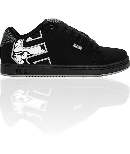 Etnies x Metal Mulisha Fader Black & Grey Shoes