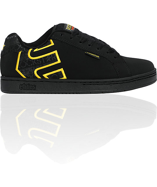 Etnies x Rockstar Fader Black & Gold Shoes