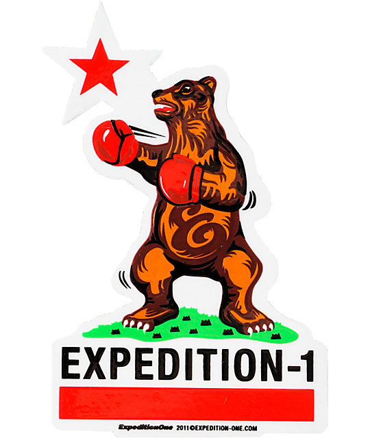 Expedition One Cali Bear Sticker