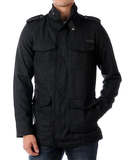 Ezekiel Westside Herringbone M-65 Charcoal Jacket