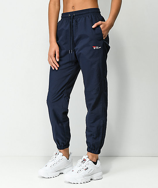 Fila Diana Navy Cutout Zipper Track Pants by Fila