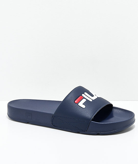 FILA Drifter Navy, Red & White Slide Sandals