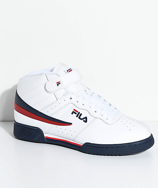 FILA F-13 White, Navy & Red Shoes