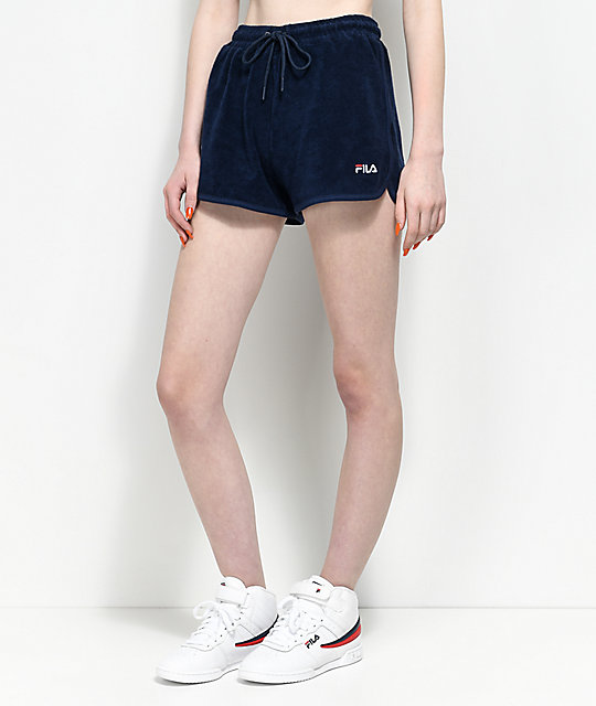 FILA Follie Navy Terry Shorts