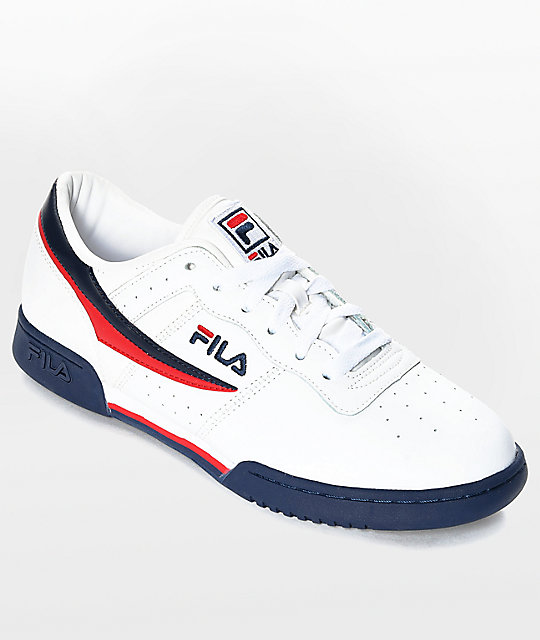 FILA Original Fitness White & Navy Shoes
