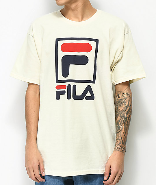 Fila Stacked Gardenia T Shirt by Fila