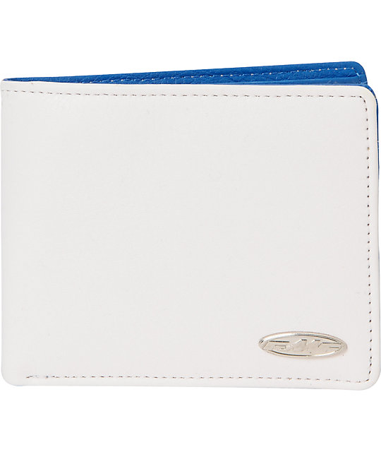 FMF Interior White & Blue Bifold Wallet
