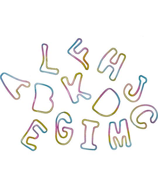 Fad Treasures Rainbow Letter Bands