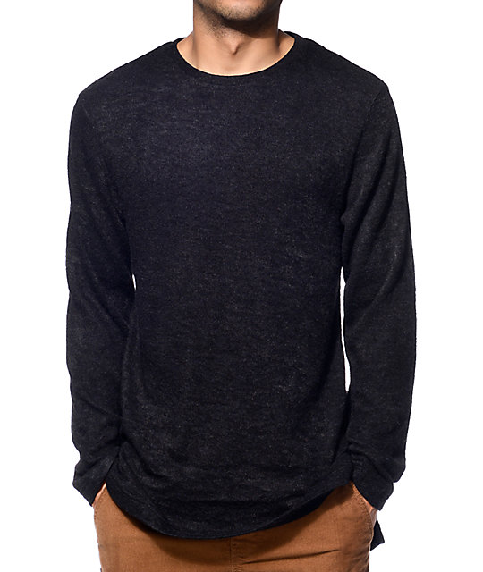 Fairplay Bates Black Crew Neck Sweater | Zumiez