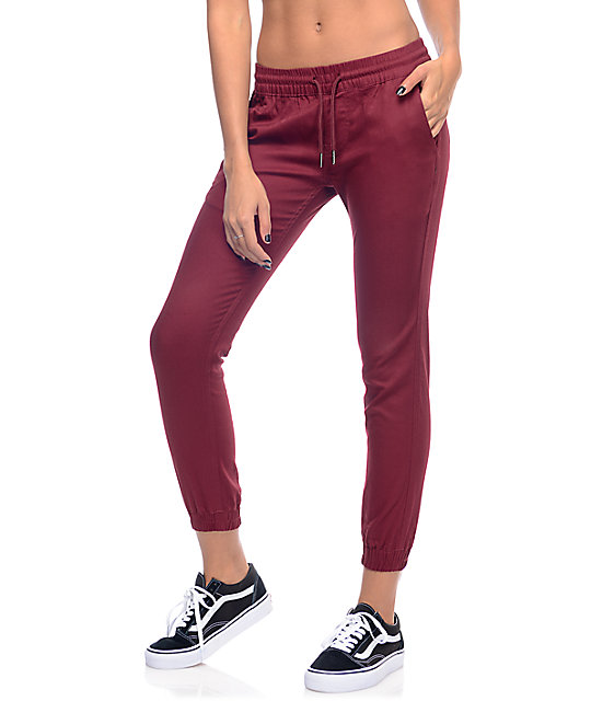 Fairplay Burgundy Runner Jogger Pants