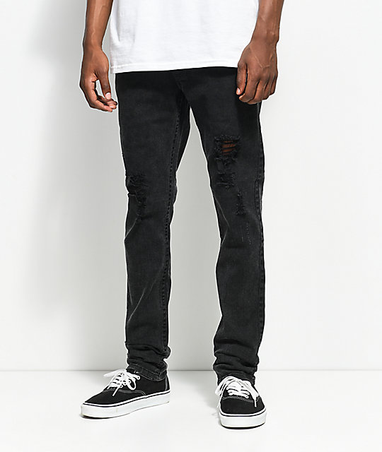 Fairplay Lathan Black Ripped Jeans