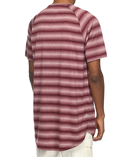 Fairplay Packer Maroon Striped T-Shirt