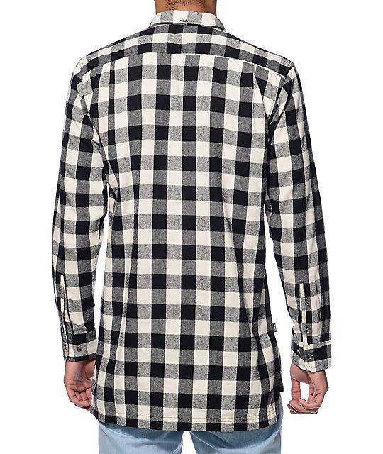 Fairplay Remi Black Long Sleeve Half Placket Button Up Shirt