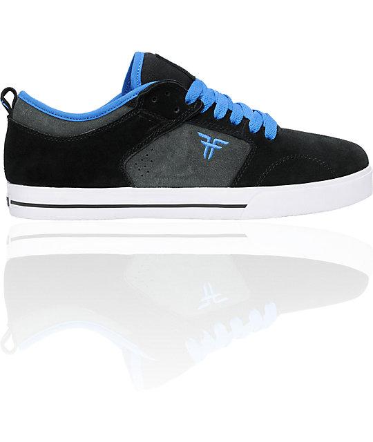 Fallen Clipper Black & Dark Grey Skate Shoes