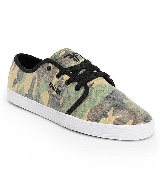 fallen daze camo canvas skate shoes