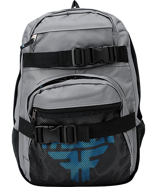 Fallen Insignia Grey & Cyan Skate Backpack