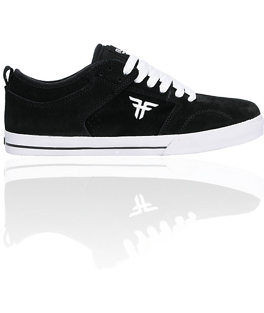 Fallen Shoes Clipper Black & White Skate Shoes