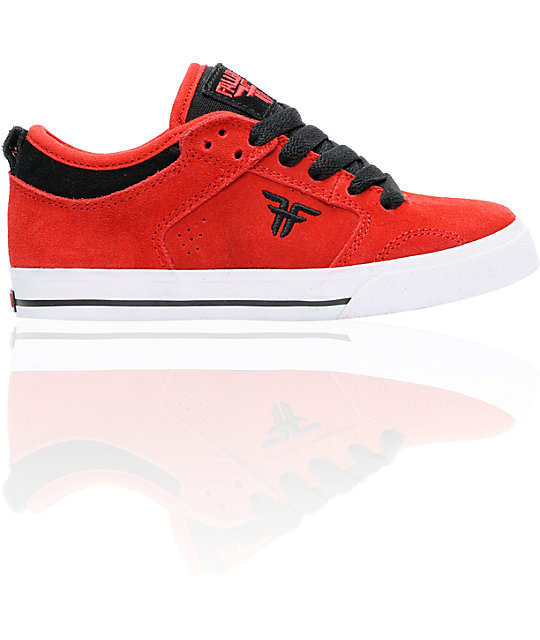 Fallen Shoes Clipper Red & Black Boys Skate Shoes