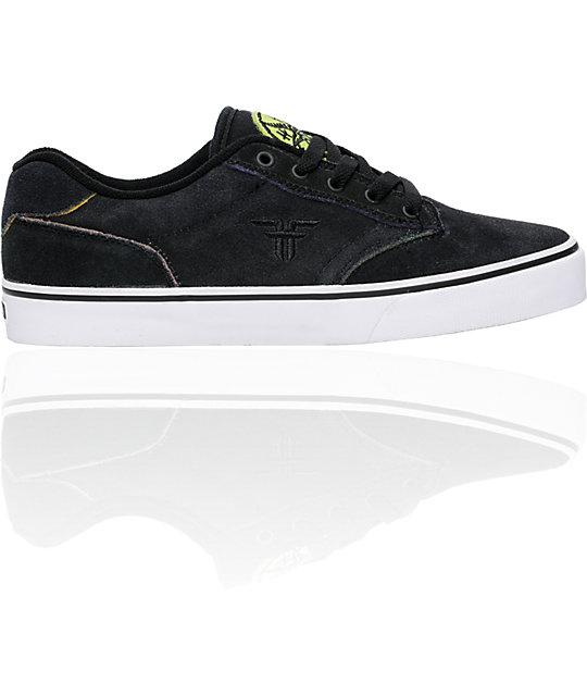 Fallen Shoes Slash Black & Rainbow Skate Shoes