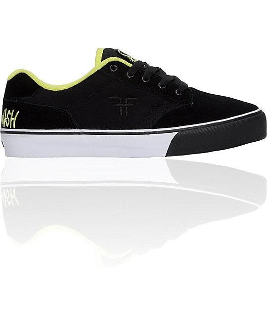 fallen shoes x deathwish slash black lime skate shoes