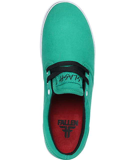 Fallen The Easy Green & Red Skate Shoes
