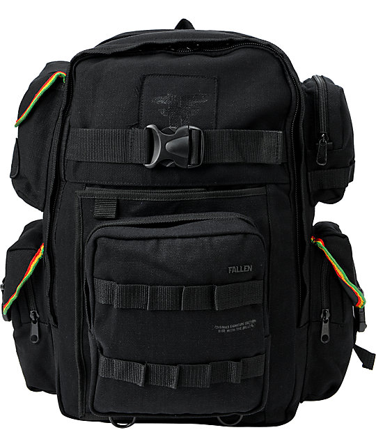 Fallen Thomas Black & Rasta Skate Backpack