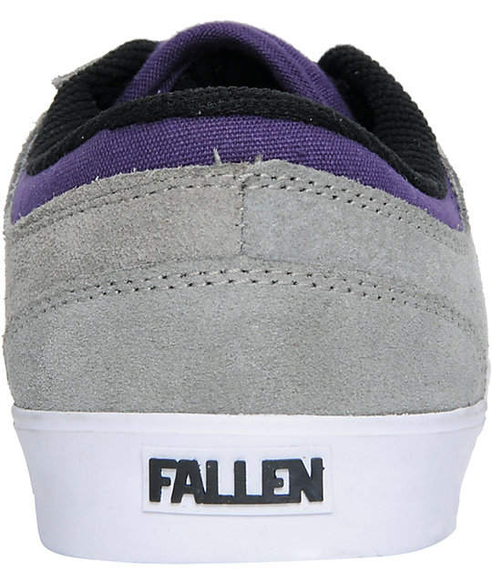 Fallen Vice Billy Marks Grey & Purple Suede Skate Shoes