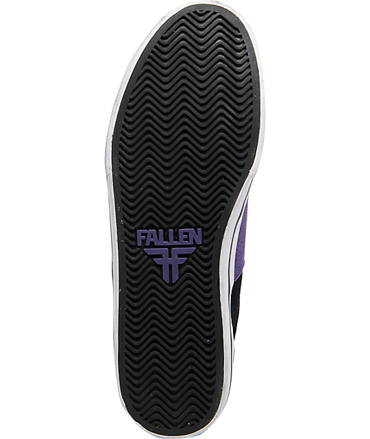 Fallen Victory Black & Purple Suede Skate Shoes