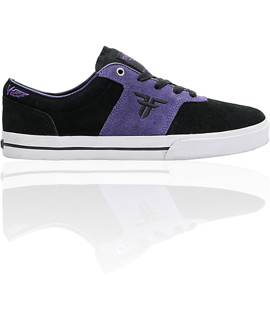 Fallen Victory Black & Purple Suede Skate Shoes